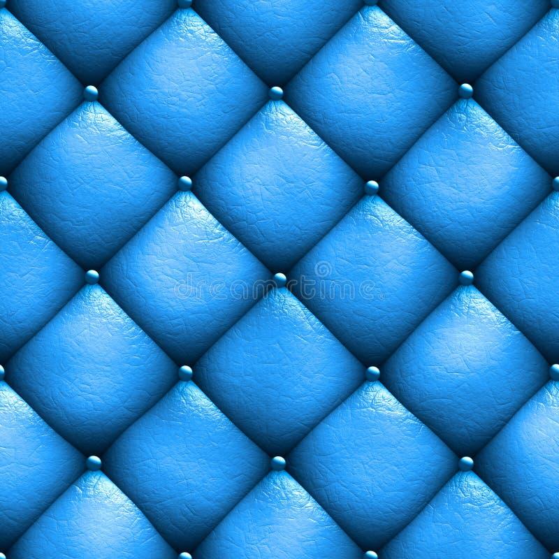 Безшовная синь софы драпирования кожи текстуры иллюстрация 3d иллюстрация штока