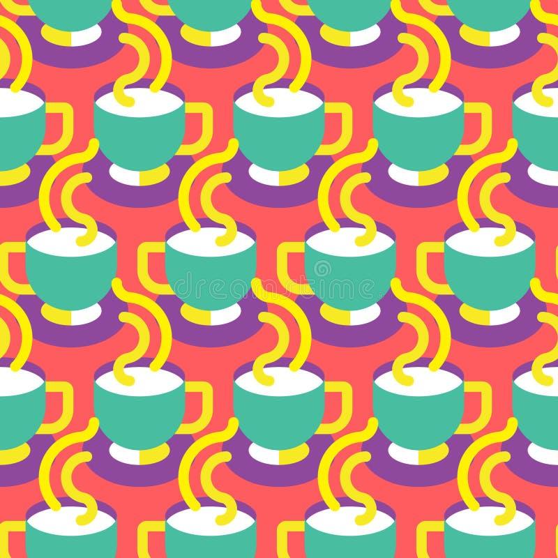 Безшовная скороговорка кофейной чашки бесплатная иллюстрация