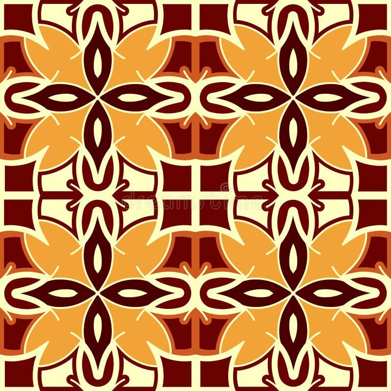 Безшовная творческая этническая квадратная картина Геометрический образец вектора Винтажный племенной этнический фон, безшовная т бесплатная иллюстрация