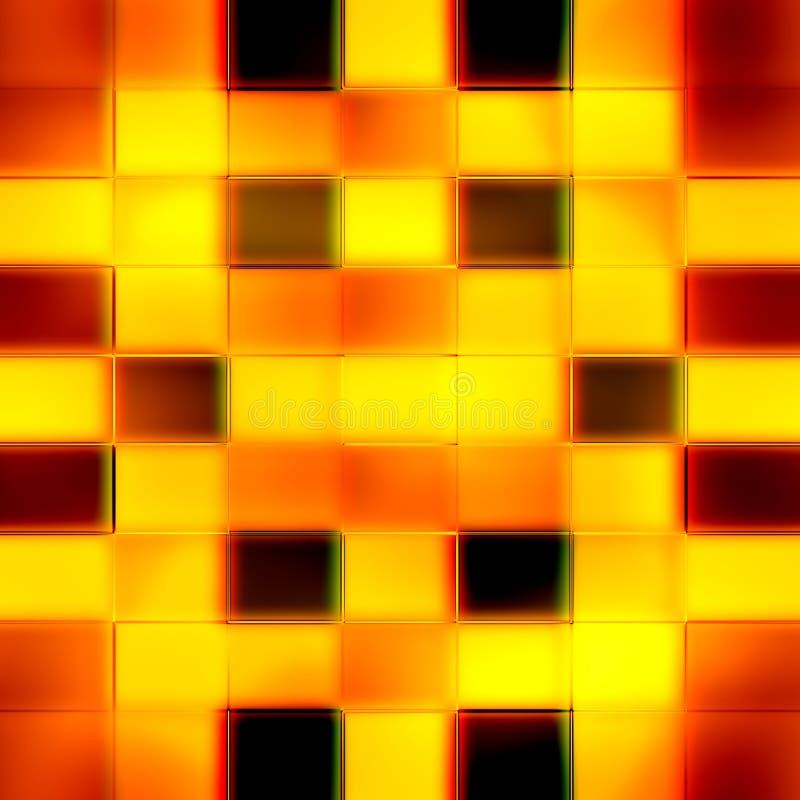 Безшовная текстура абстрактной яркой сияющей иллюстрации апельсина 3D бесплатная иллюстрация