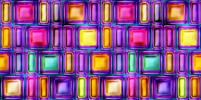 Безшовная текстура абстрактной яркой сияющей красочной иллюстрации 3D бесплатная иллюстрация