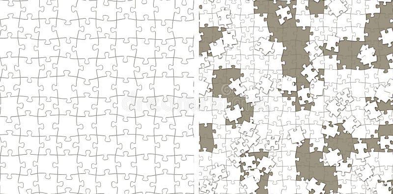 Безшовная текстура головоломки иллюстрация вектора