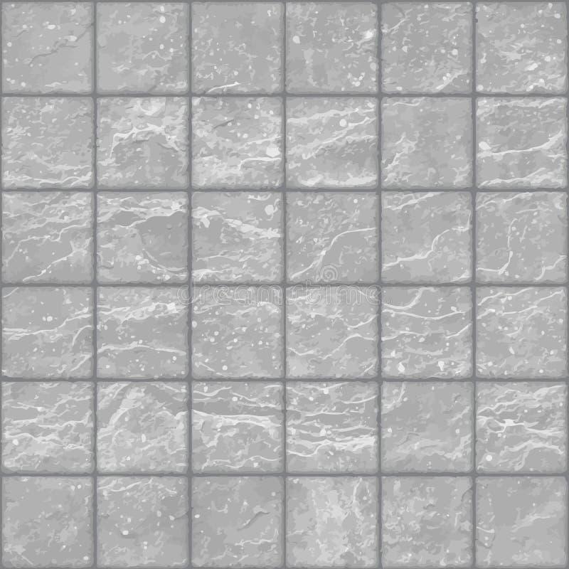 Безшовная текстура камня grunge серого кроет стену черепицей с пятнами бесплатная иллюстрация