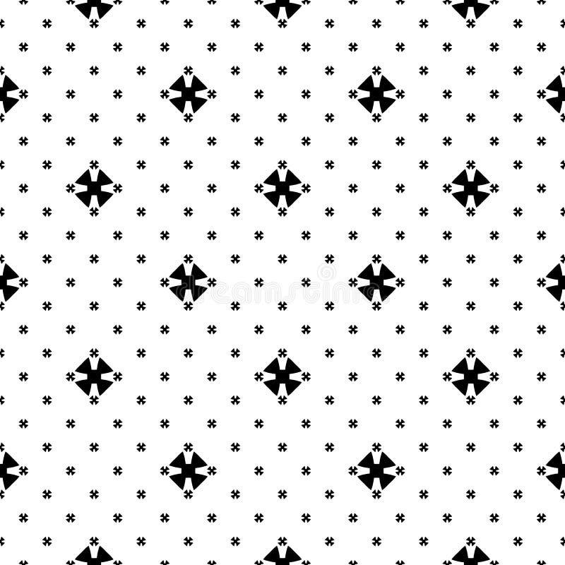 Безшовная текстура картины, черных & белых минималистская иллюстрация вектора