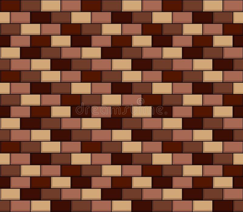 Безшовная текстура кирпичной стены шаржа иллюстрация штока