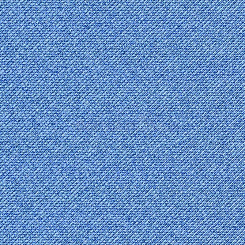 Безшовная текстура кромки голубой джинсовой ткани раскосной иллюстрация штока