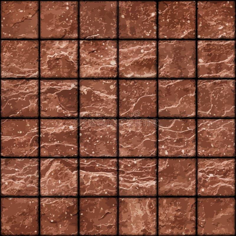 Безшовная текстура пакостного красного камня кроет стену черепицей с пятнами бесплатная иллюстрация