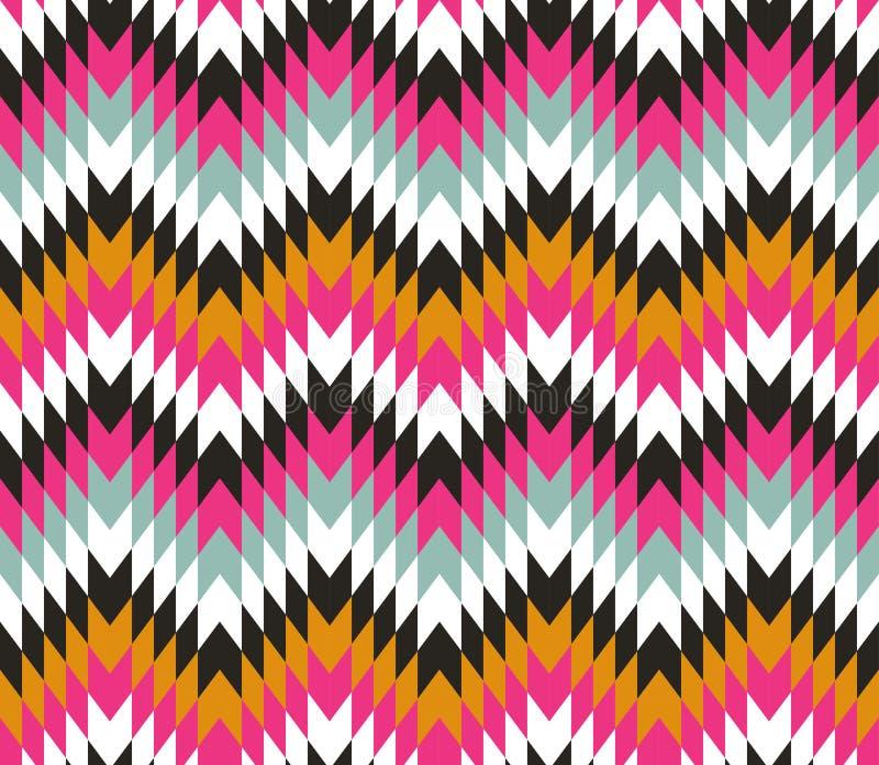 Безшовная текстура с зигзагами стоковые изображения