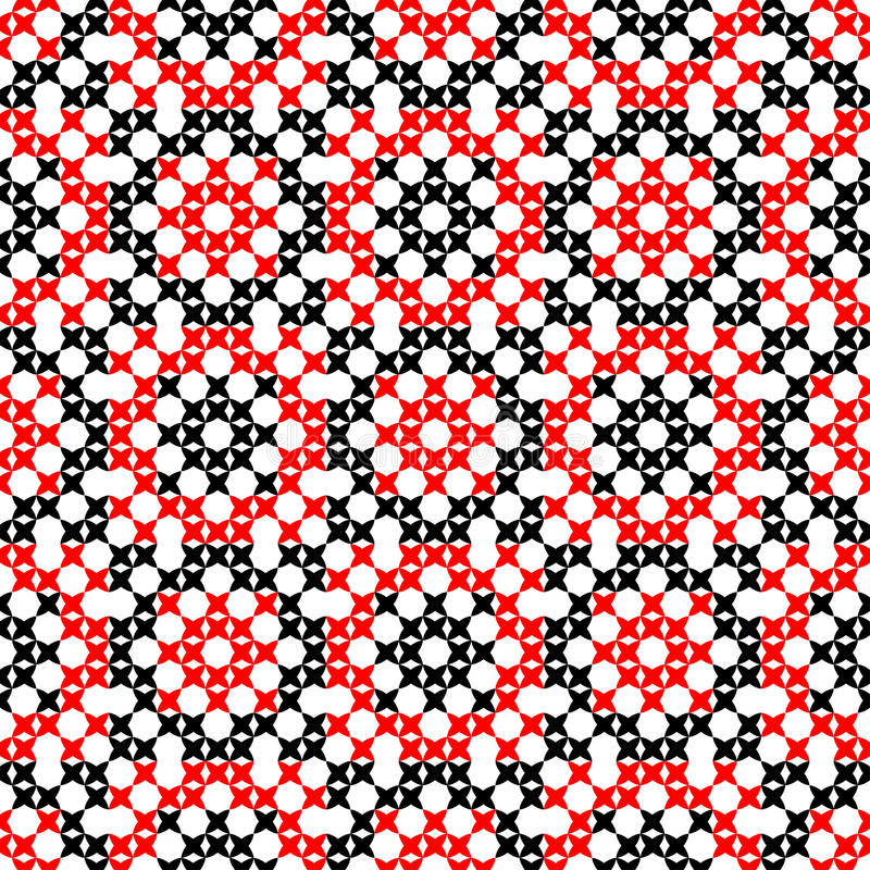 Безшовная текстура с красными и черными абстрактными картинами стоковые изображения