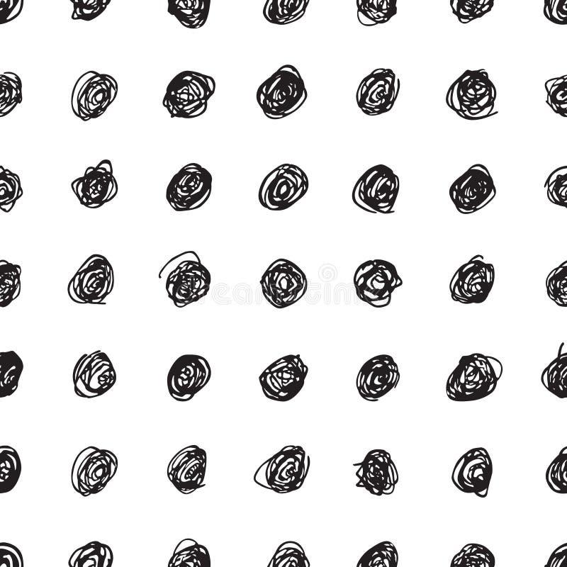 Безшовная текстура с точками иллюстрация штока