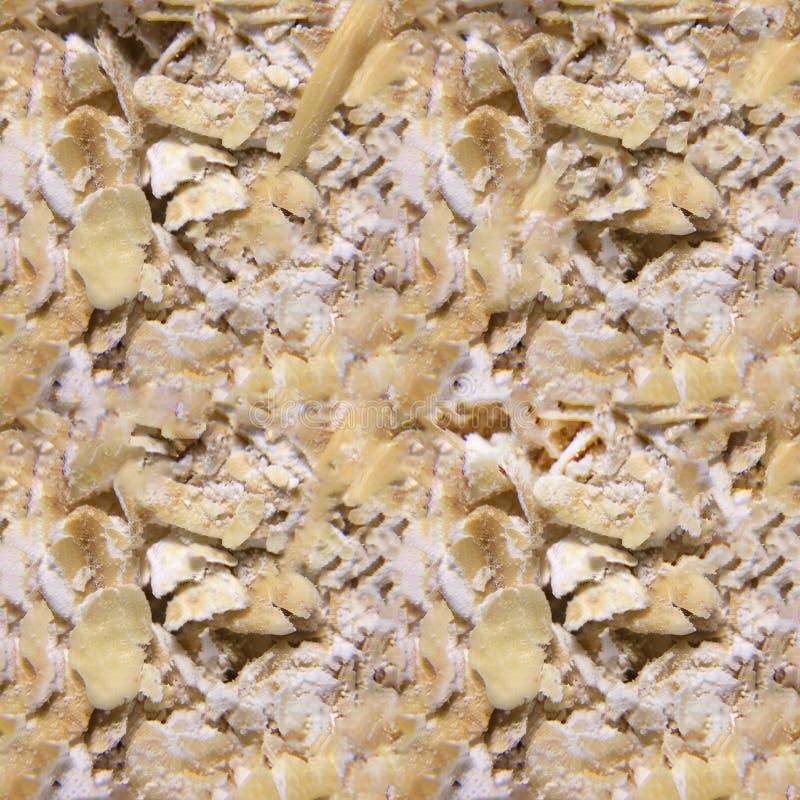 Безшовная текстура фото хлопьев овса стоковая фотография rf