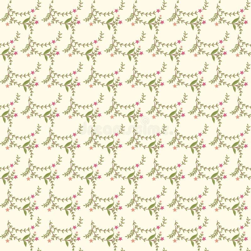 Безшовная текстура цветка иллюстрация штока