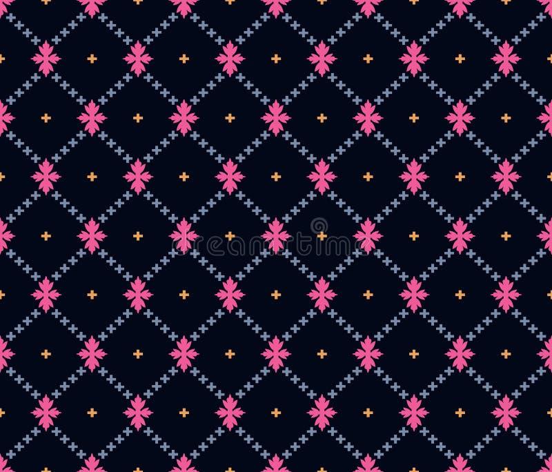 Безшовная темная геометрическая картина бесплатная иллюстрация