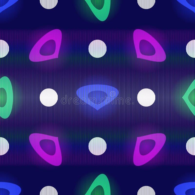 Безшовная темно-синая картина с белыми точками польки иллюстрация штока