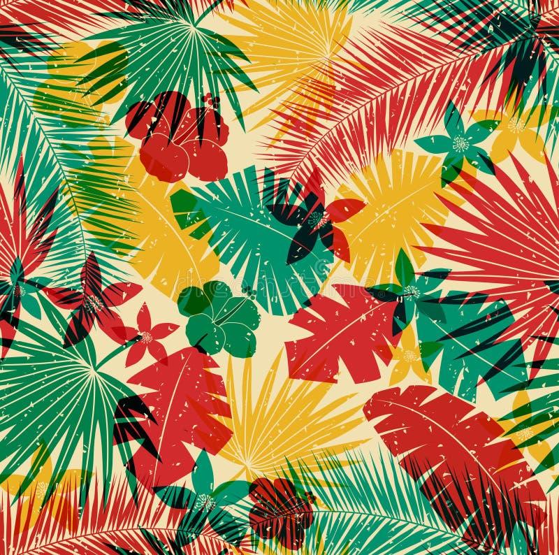 Безшовная тропическая картина джунглей бесплатная иллюстрация