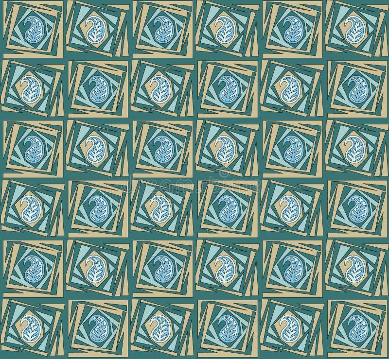 Безшовная уникальная картина Пейсли бесплатная иллюстрация