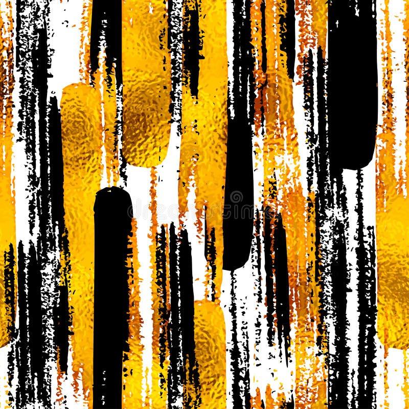 Безшовная ультрамодная предпосылка блога текстурирует с золотом нарисованным рукой бесплатная иллюстрация