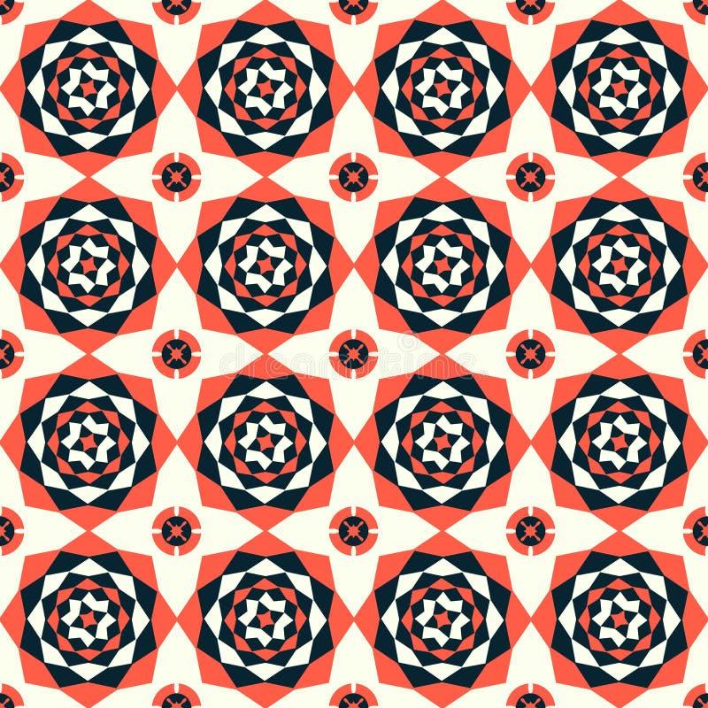 Безшовная флористическая абстрактная геометрическая предпосылка картины Год сбора винограда f бесплатная иллюстрация