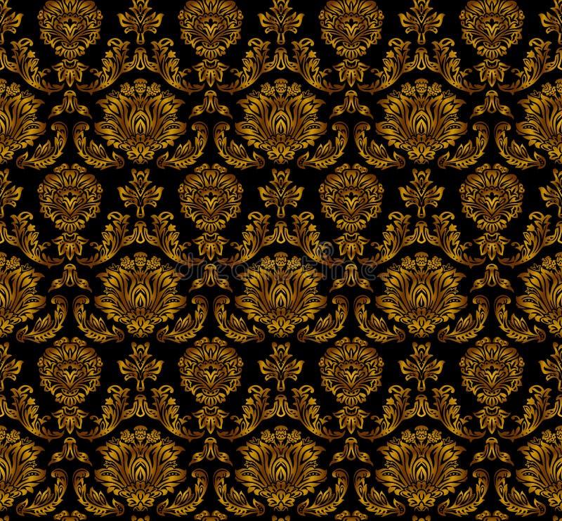 Безшовная флористическая картина. иллюстрация вектора