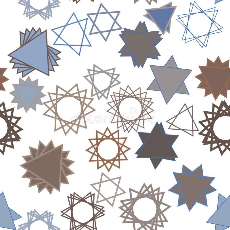 Безшовная форма звезды, абстрактной геометрической картины предпосылки Искусство, крышка, вектор & график иллюстрация вектора