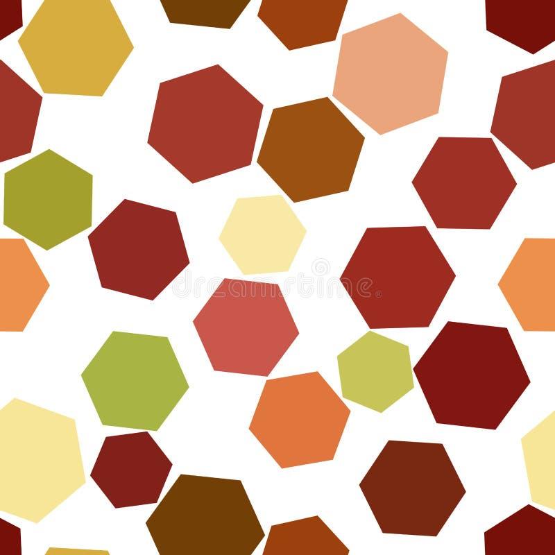 Безшовная форма шестиугольника, абстрактной геометрической картины предпосылки Шаблон, поверхность, детали & сеть иллюстрация штока