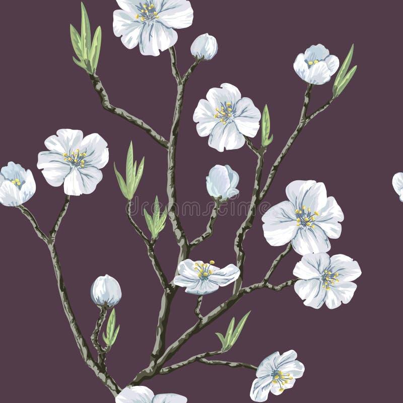 Безшовная флористическая картина бесплатная иллюстрация