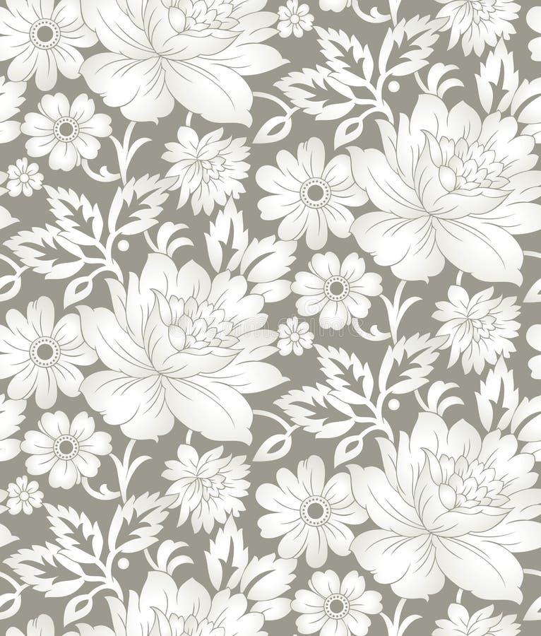Безшовная флористическая предпосылка для дизайна ткани бесплатная иллюстрация
