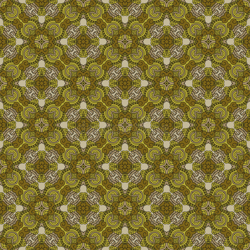 Безшовная цветастая ретро предпосылка картины иллюстрация штока