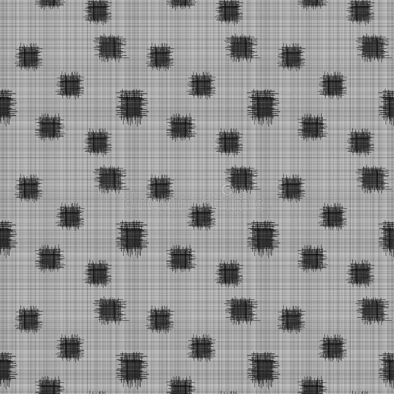 Безшовная черно-белая картина заплаты иллюстрация вектора