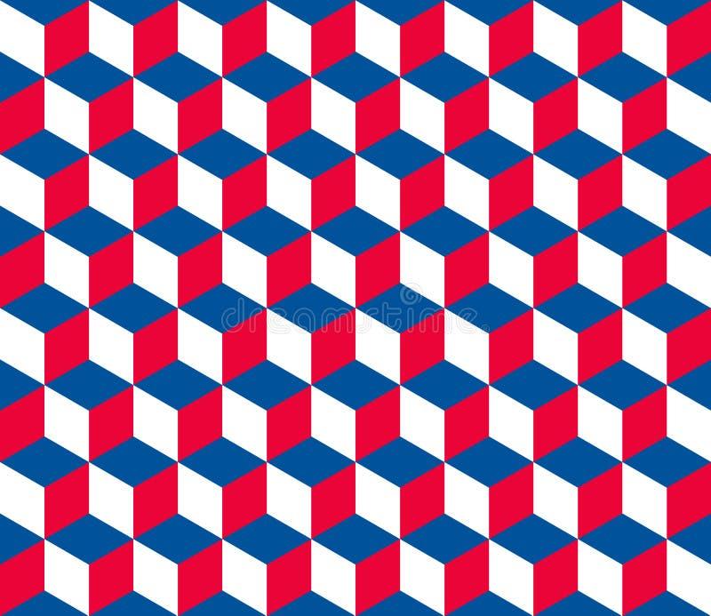 Безшовная шестиугольная картина (куба) иллюстрация вектора