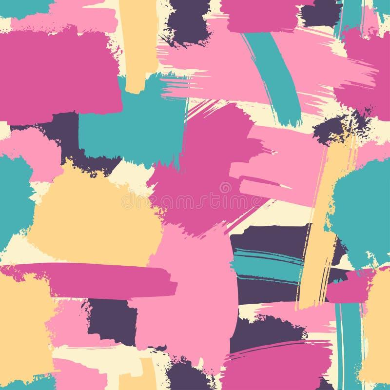 Безшовная щетка штрихует картину бесплатная иллюстрация