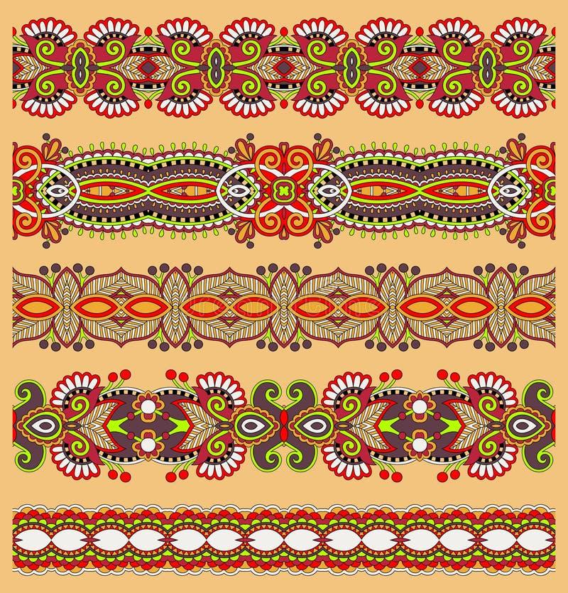 Безшовная этническая флористическая картина нашивки Пейсли, иллюстрация вектора
