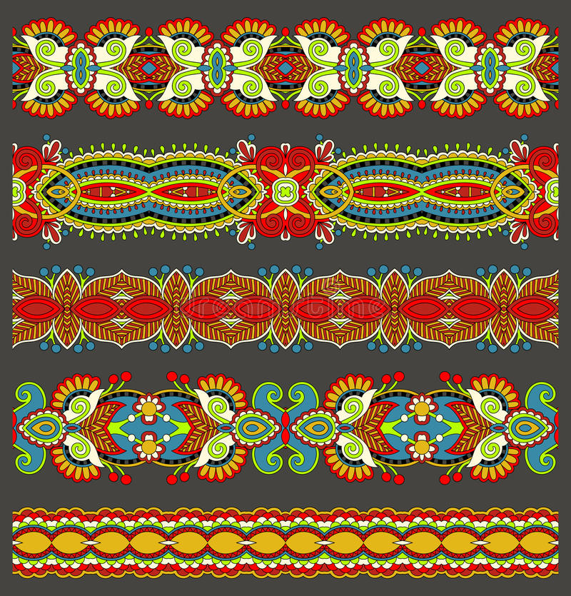 Безшовная этническая флористическая картина нашивки Пейсли, бесплатная иллюстрация
