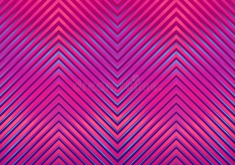Безшовная яркая абстрактная картина Геометрическая печать составленная линий зигзага пурпурных, пинк зигзага, голубые цвета иллюстрация штока