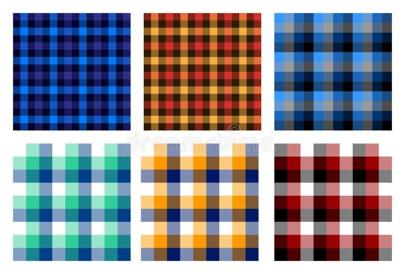 Безшовная checkered картина шотландки связывает 3 бесплатная иллюстрация