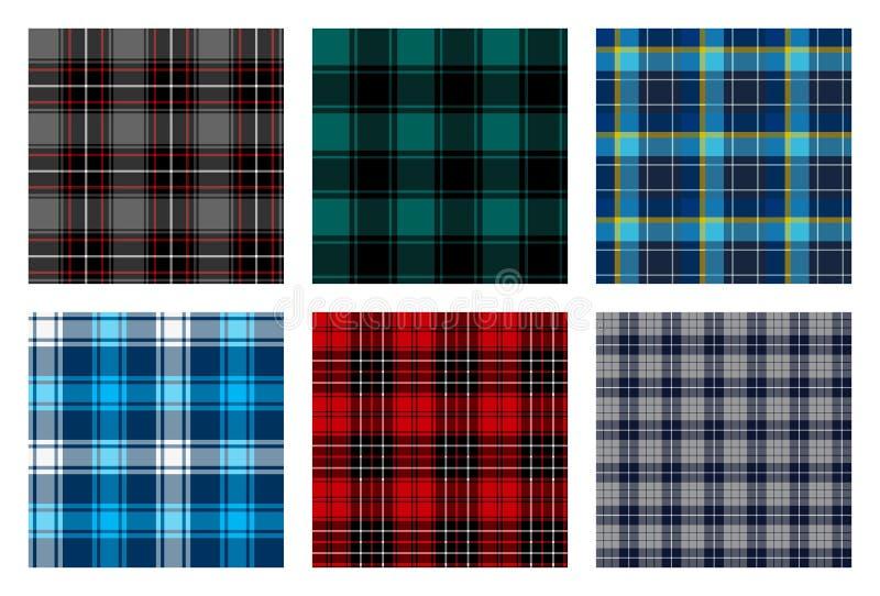 Безшовная checkered картина шотландки связывает 8 иллюстрация вектора