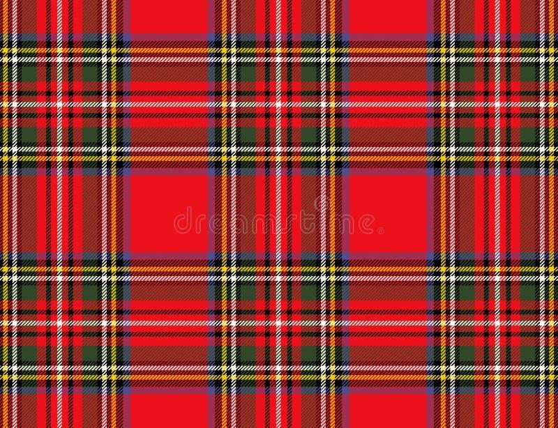 Безшовная checkered предпосылка картины тартана шотландки E стоковое изображение