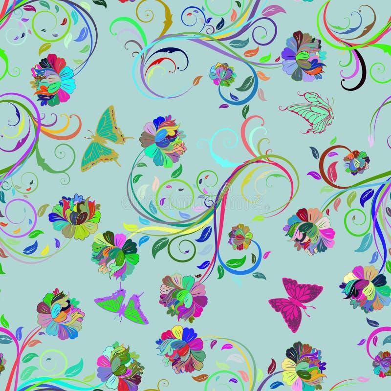 Безшовная multicolor флористическая картина иллюстрация штока