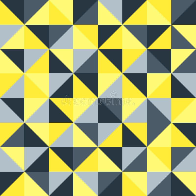 Безшовное геометрическое винтажное ретро искусство предпосылки вектора картины с красочным диамантом треугольников формирует серы бесплатная иллюстрация