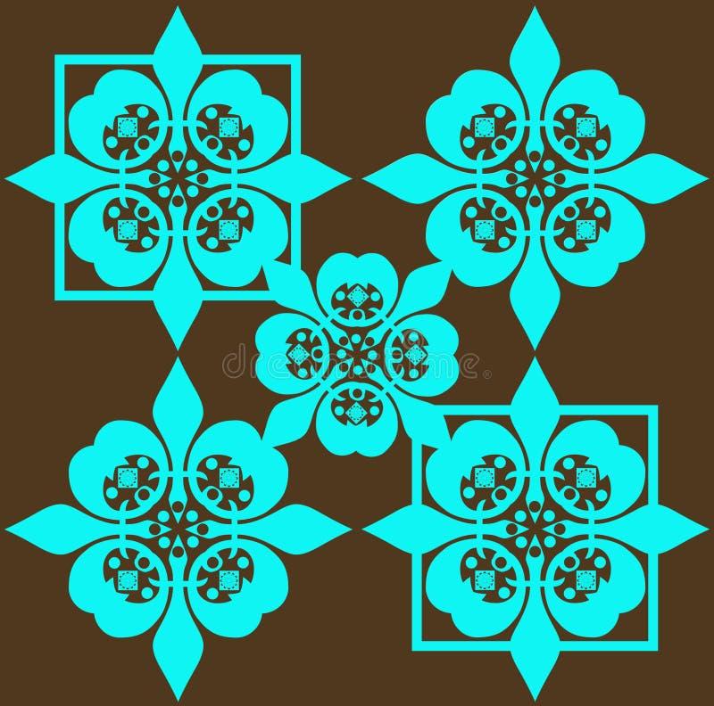 безшовное голубой картины ретро иллюстрация вектора