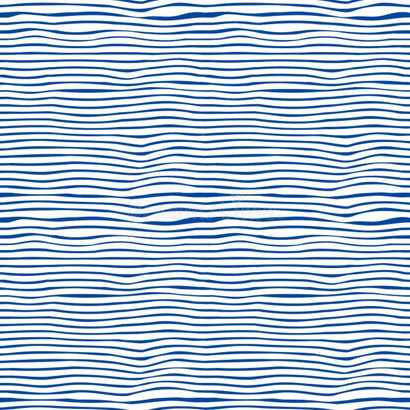 Безшовное голубое и белизна stripes предпосылка иллюстрация вектора