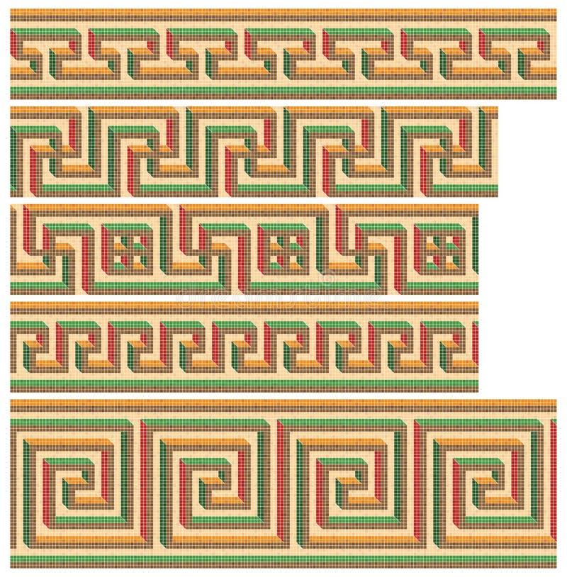 безшовное греческих мозаик римское бесплатная иллюстрация