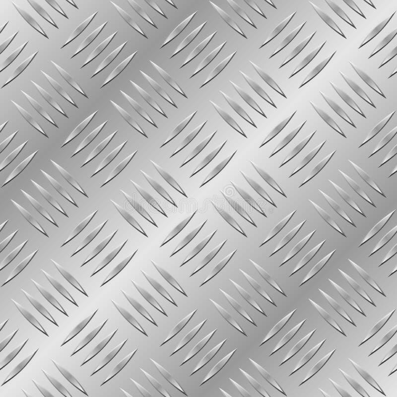 безшовное диаманта металлопластинчатое иллюстрация вектора