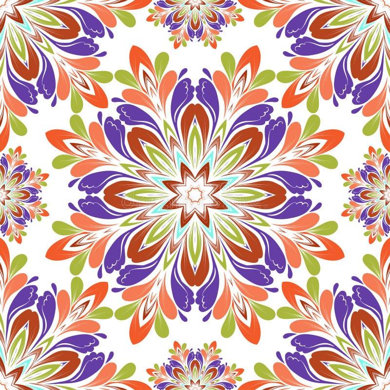 Download безшовное картины круглое иллюстрация вектора. иллюстрации насчитывающей флористическо - 41658914