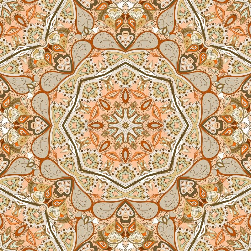Download безшовное картины круглое иллюстрация вектора. иллюстрации насчитывающей антиквариаты - 41662642
