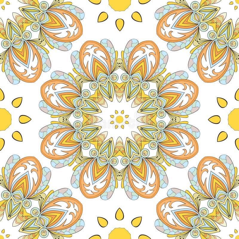 Download безшовное картины круглое иллюстрация вектора. иллюстрации насчитывающей мозаика - 41663163