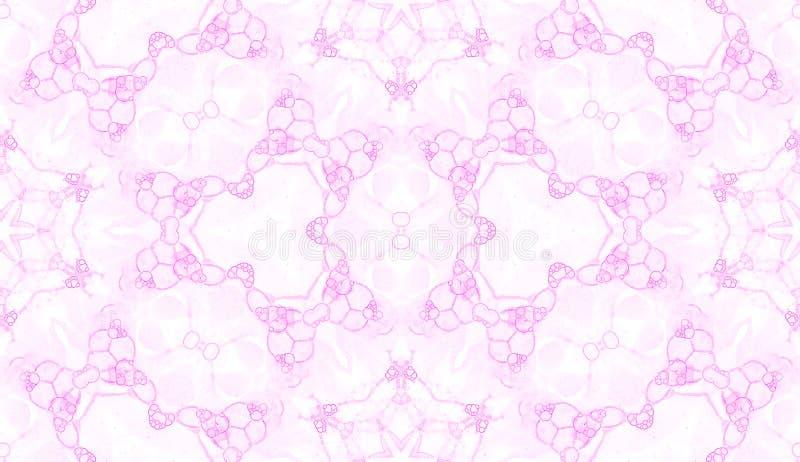 безшовное картины розовое Удивительнейшие чувствительные пузыри мыла Орнамент ткани шнурка нарисованный рукой Печать женское бель иллюстрация вектора