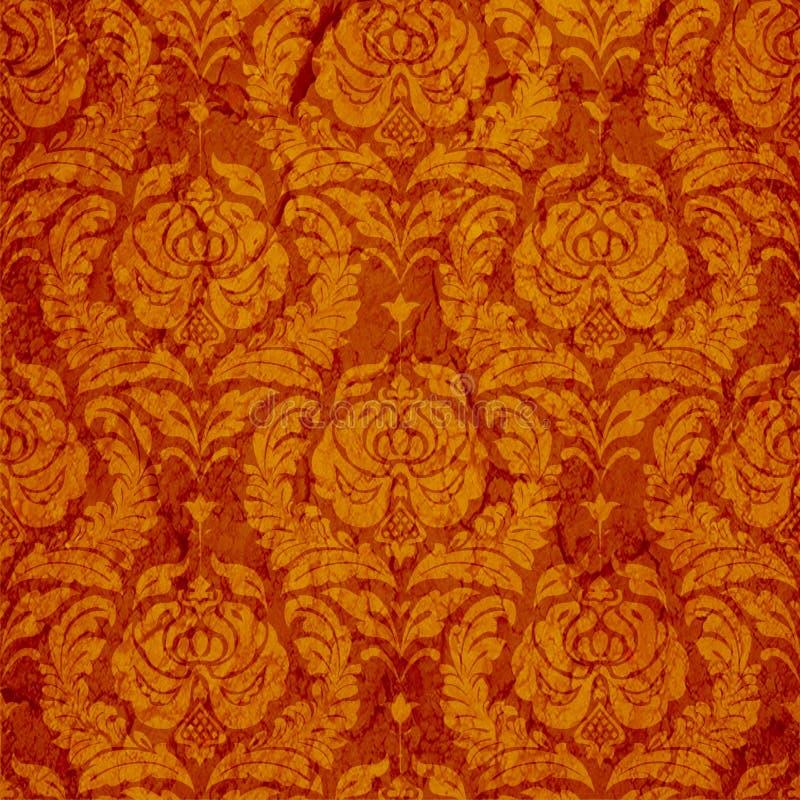 безшовное классицистического орнамента красное иллюстрация вектора