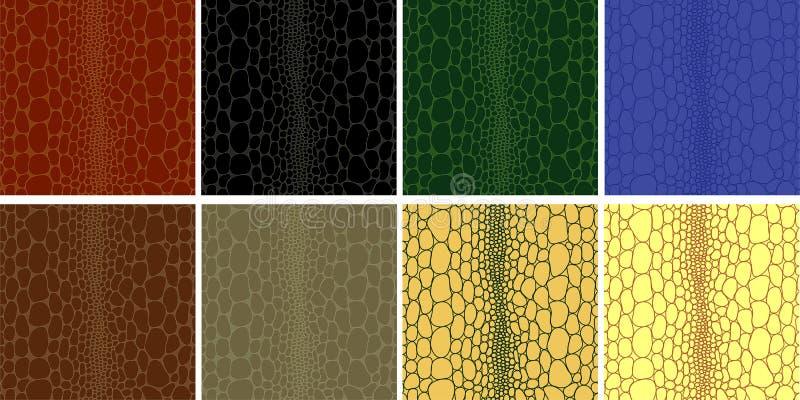 безшовное крокодила кожаное иллюстрация штока