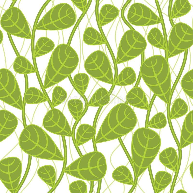 безшовное предпосылки ботаническое иллюстрация вектора